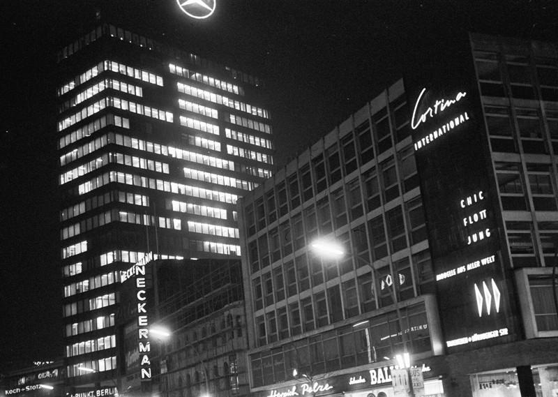 Europa Center at night
