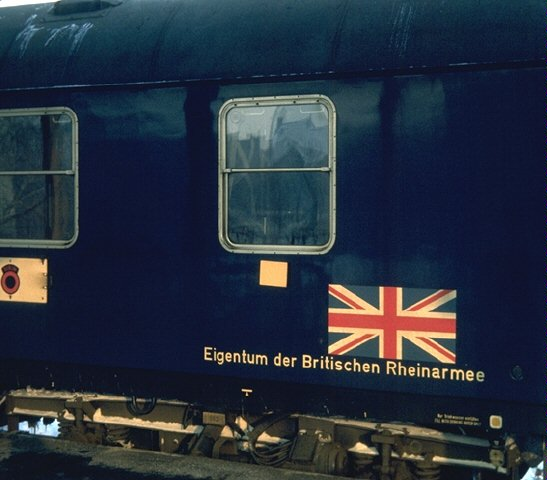 Union Jack on railway carriage