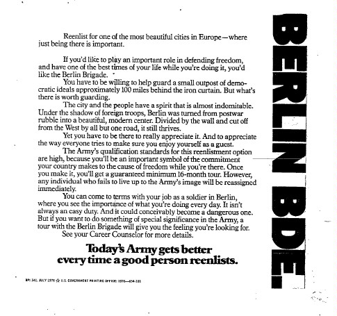 Re-enlist for Berlin Bde.