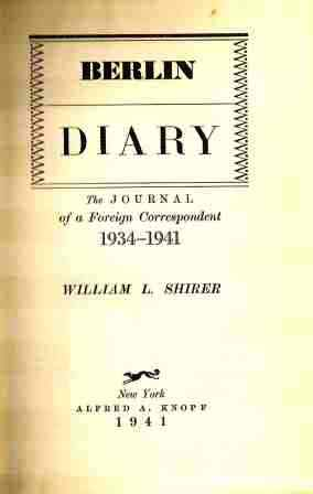 Title Page of Berlin Diary