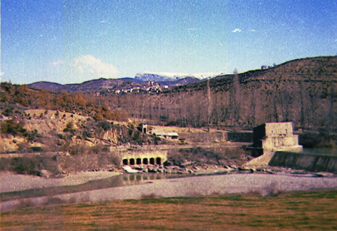 Dam in the mountains.