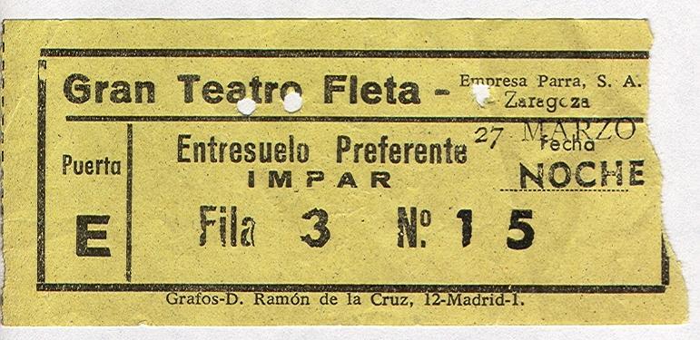 Gran Teatro film ticket